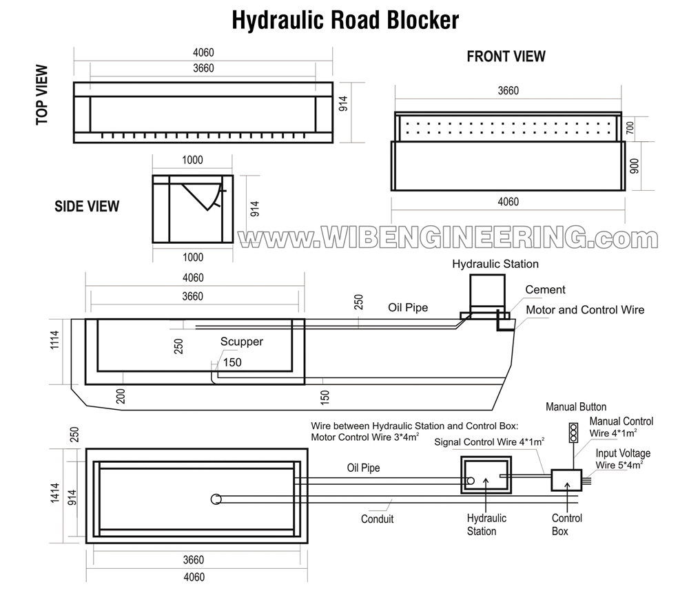 How to install the hydraulic road blocker system